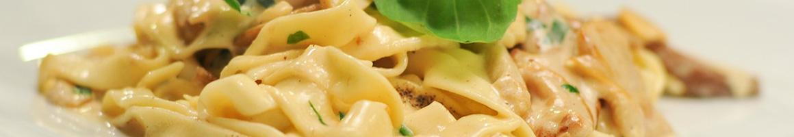 Eating Italian at Augustino's restaurant in Hoboken, NJ.